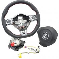 Мультируль GTI + подушка + блок для Фольксваген Golf / Jetta / Passat / CC / Tiguan