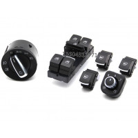 Комплект кнопок с хром окантовкой для Фольксваген Golf / Jetta / Passat B6 /B7/CC