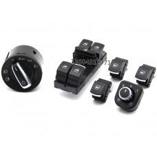 Комплект кнопок с хром окантовкой для Volkswagen Golf / Jetta / Passat B6 /B7/CC