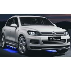 Пороги с LED подсветкой для Volkswagen Touareg 2011-2015