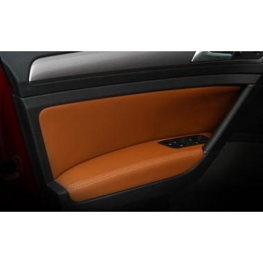Кожаная отделка карт дверей и подлокотника для Volkswagen Golf 7