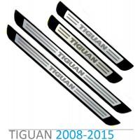 Штатные накладки на пороги для Фольксваген Tiguan
