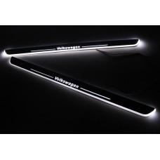 Накладки на пороги с LED подсветкой для Volkswagen Jetta / Passat / CC / Tiguan