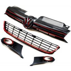 Набор передних решеток в расцветке GTI для Volkswagen Golf 6