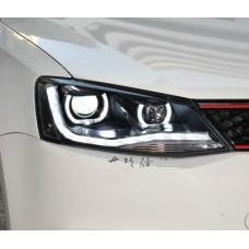 Передняя LED оптика в стиле Audi R8 для Volkswagen Jetta 6