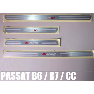 Накладки на пластик порогов Фольксваген Passat B6 / B7 / CC