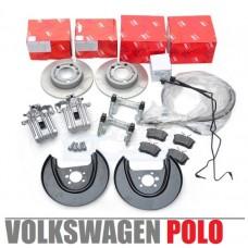 Комплект дисковых задних тормозов для Volkswagen Polo / Jetta