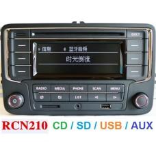 Штатная магнитола RCN210 / RCD320 с USB, Bluetooth + AUX для Фольксваген