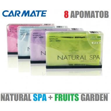 Автомобильный твердый ароматизатор CARMATE Natural SPA + Fruits Garden