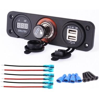 Панель USB + Розетка + напряжение сети