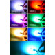 6 цветные LED лампы T10 для габаритных огней