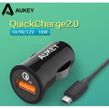 USB адаптер быстрой зарядки AUKEY Qualcomm Quick Charge 2.0A