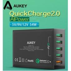 Адаптер быстрой зарядки AUKEY Qualcomm Quick Charge 4 порта 2.4A +2.0A