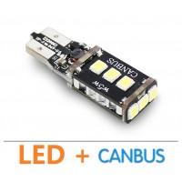 Супер яркая LED лампа с обманкой CAN шины в габаритные огни