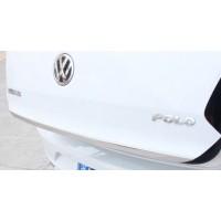 Хром сабля кромки багажника Фольксваген Polo