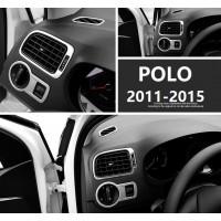 Алюминиевые накладки на воздуховоды и переключатель света Фольксваген Polo