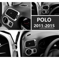 Алюминиевые накладки на воздуховоды и переключатель света Volkswagen Polo