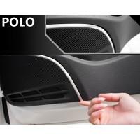 Алюминиевые накладки на решетки динамиков Фольксваген Polo