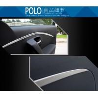 Алюминиевые хром накладки на карты дверей Фольксваген Polo