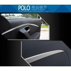 Алюминиевые накладки на карты дверей Volkswagen Polo