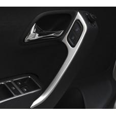 Алюминиевые накладки на внутренние ручки дверей Volkswagen Polo