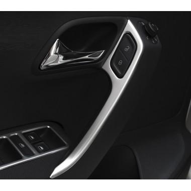 Алюминиевые накладки на внутренние ручки дверей Фольксваген Polo