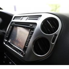 Алюминиевые накладки на магнитолу и воздуховоды Volkswagen Tiguan