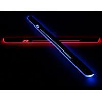 Накладки на пороги R-line с LED подсветкой для Фольксваген Scirocco