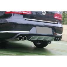 Диффузор заднего бампера + насадки выхлопа для Volkswagen Passat B7