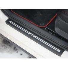 Штатные защитные наклейки GTI на пороги для Volkswagen Polo