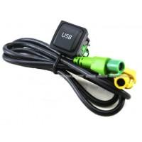 Штатный USB разъем к магнитолам RCD / RNS для Фольксваген Golf / Jetta / Tiguan