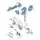 Моторчик заднего суппорта для Фольксваген Passat B6 / B7 / CC / Tiguan