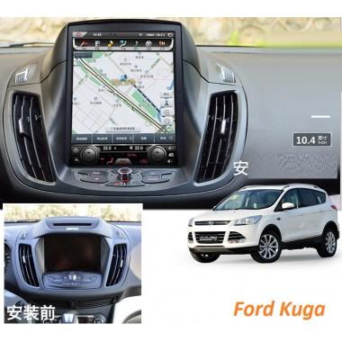 Android магнитола 10,4 дюйма в стиле Tesla для Ford Kuga