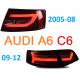 Задняя альтернативная LED оптика для Ауди A6 C6 2005-2012 (вариант 2)