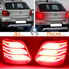 Задние фонари в стиле Mercedes-Benz для Фольксваген Polo хэтчбэк