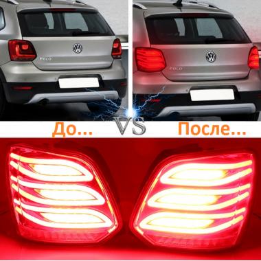 Задние фонари в стиле Mercedes-Benz для Volkswagen Polo хэтчбэк
