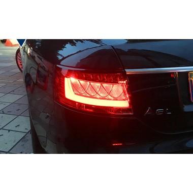 Задняя альтернативная LED оптика для Audi A6 C6 2005-2008 (вариант 3)