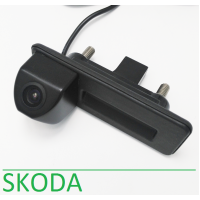 Камера заднего вида в ручку двери для Шкода Fabia/Rapid/Octavia/Yeti