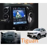 Android магнитола 10,4 дюйма в стиле Tesla для Volkswagen Tiguan
