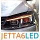 Передняя LED оптика для Фольксваген Jetta 6 в стиле Ауди S5