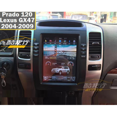 Android магнитола в стиле Tesla для Toyota Land Cruiser Prado 120-150, Land Cruiser 200, Lexus GX470