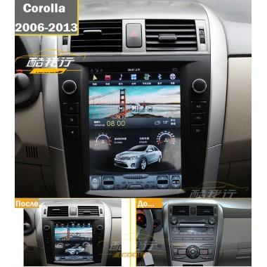 Android магнитола 10,4 дюйма в стиле Tesla для Toyota Corolla