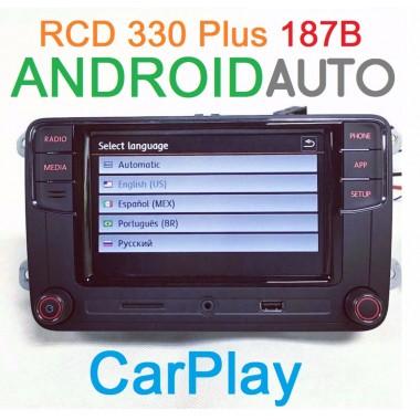 Штатная магнитола RCD 330 Plus с CarPlay и AndroidAuto для Фольксваген и Шкода