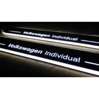 Накладки на пороги с LED подсветкой Фольксваген Individual