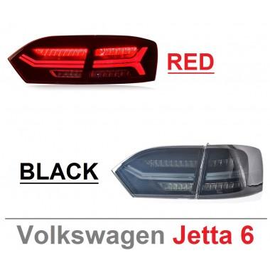 Задняя LED оптика с бегающим поворотником для Jetta 6 (2012-2014)