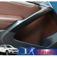 Декоративные накладки под карбон на ручки дверей Volkswagen Tiguan