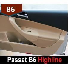 Кожаные вставки в карты дверей для Фольксваген Passat B6