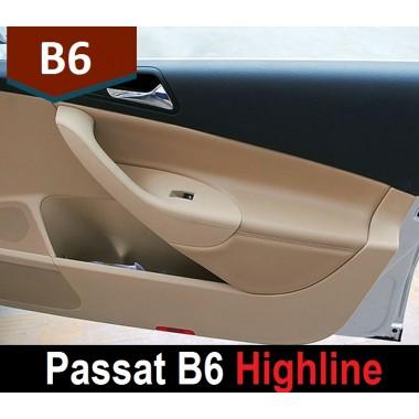 Кожаные вставки в карты дверей для Volkswagen Passat B6
