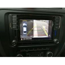 MIB камера заднего вида со штатными динамическими линиями парковки для Volkswagen, Skoda