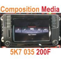 Штатная магнитола Composition Media (FULL версия+защиты нет!) для Фольксваген на платформе PQ